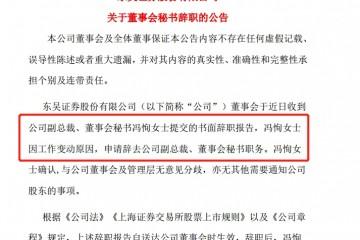 厉害了东吴证券前美女董秘冯恂上任苏州金融局副局长