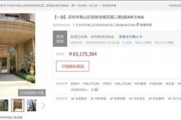 海南省委原常委张琦涉赃深圳房产被拍卖成交价6317万元