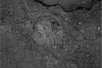 中国卫星镜头中暴雨下的河南灾区